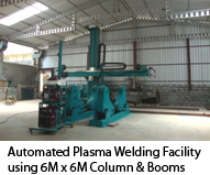 Automated Plasma Welding Facility using 6M x 6M Column & Booms