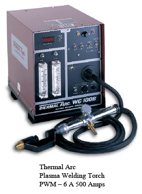 Thermal Arc Plasma Welding Torch PWM – 6 A 500 Amps